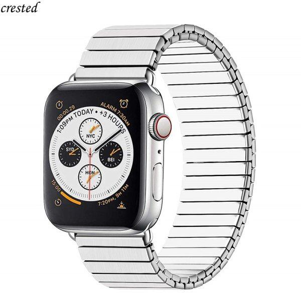 Elastic strap for Apple watch band 44mm 40mm 42mm 38mm Stainless Steel Watchband Metal belt bracelet iWatch series 3 4 5 se 6 Malaysia