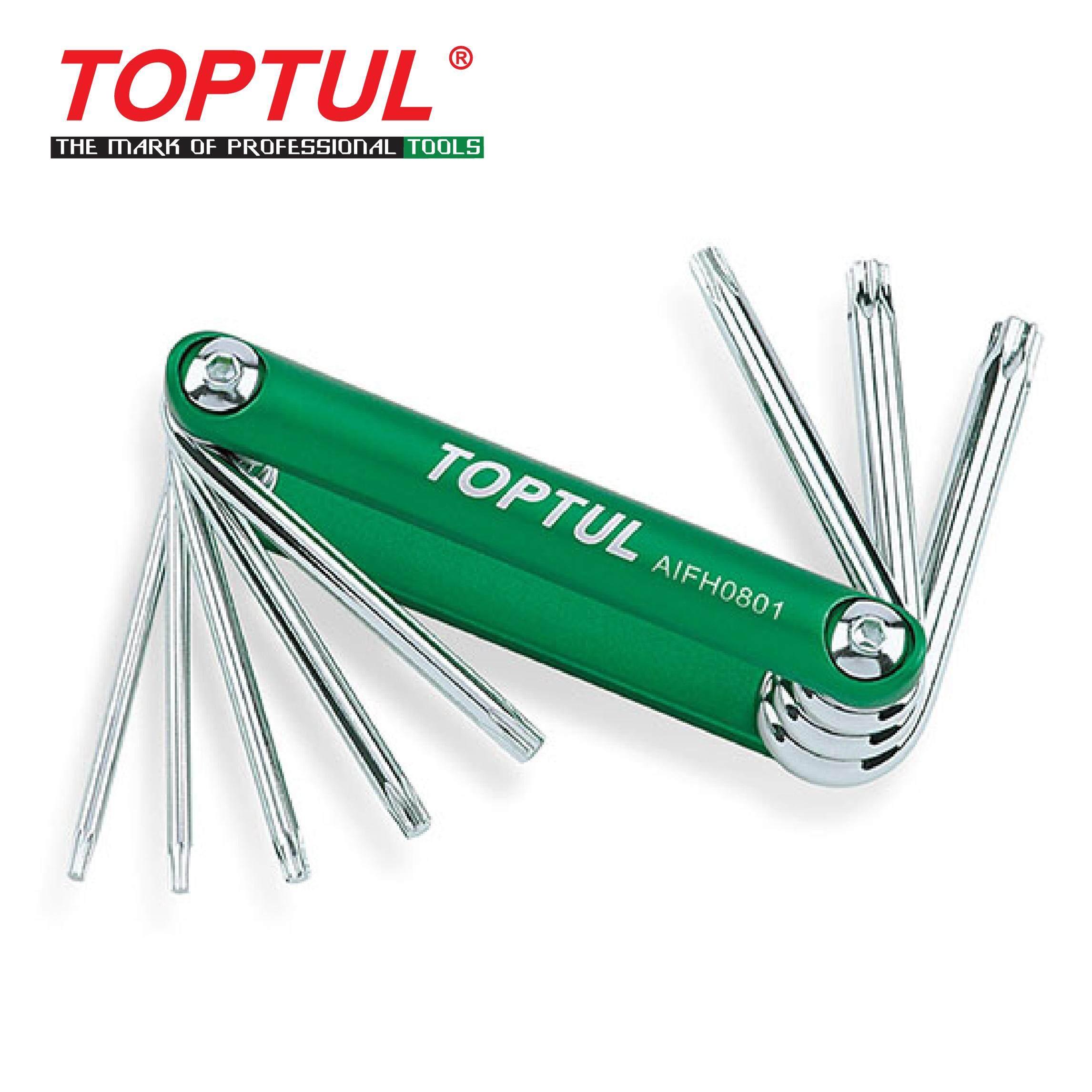 TOPTUL 8-in-1 Folding Star Key Set (AIFH0801)