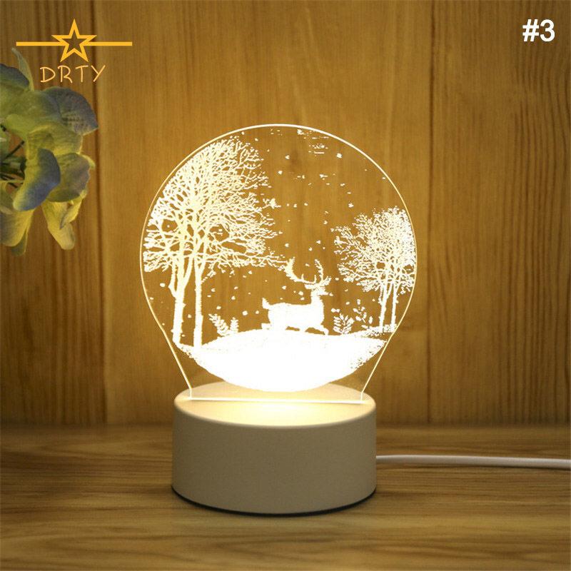 Đèn Ngủ 3D DRTY Đèn Ngủ LED Cho Trẻ Em Đèn Cạnh Giường Đồ Chơi Tốt Nhất Quà Tặng Sinh Nhật Giáng Sinh Cho Bé Trai Bé Gái