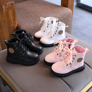 Giày Trẻ Em Bốt Da Ngắn Cho Bé Gái Bốt Martin Thường Ngày Cho Bé Trai Mùa Thu 2020 Thời Trang Anh Quốc Mới 1-2-3 Tuổi thumbnail