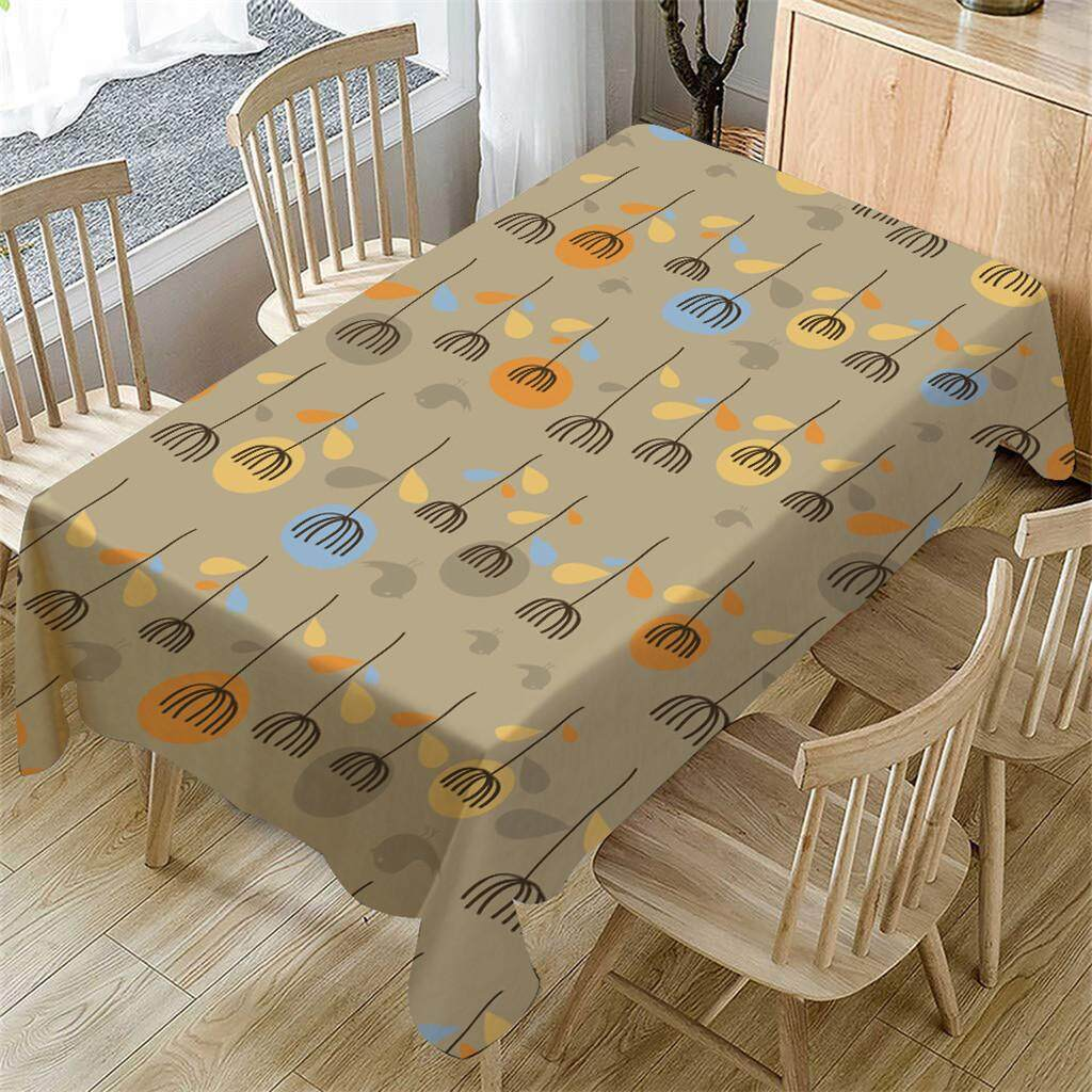 MyAnswer_Cartoon Table Cloth Linen Tablecloth For Kitchen Decorative Dining Table Cover Free shipping