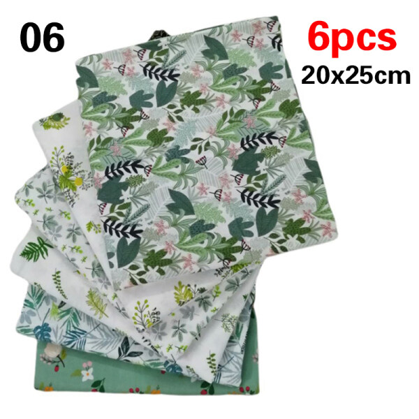 exix 5/6/8/9Pieces Clothing Twill Printed Cartoons 20*25/25*25cm Patchwork Cotton Fabric Pieces of Floral Household Goods DIY Sewing & Knitting Supplies