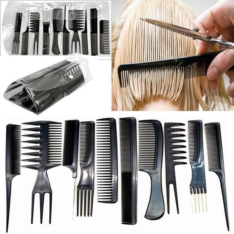 10 chiếc nhựa thân thiện với môi trường Lược chống tĩnh điện cắt tóc Lược Massage Chải