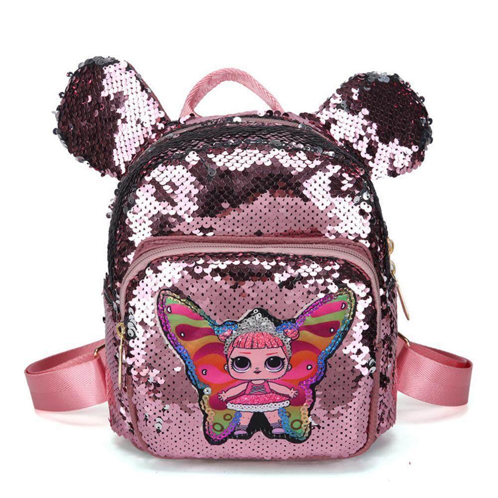 f35cf259a59 FlyUpward Mini Dazzling Flip Sequins Backpack Glitter Sequins Backpack  Schoolbag Shoulder Bag Satchel for Kids Girls