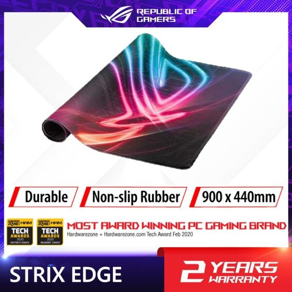 """ROG Vertical Gaming Mousepad Strix Edge with Anti-Fray Stitching and Non-Slip Base (15.7"""" X 17.7"""") Malaysia"""