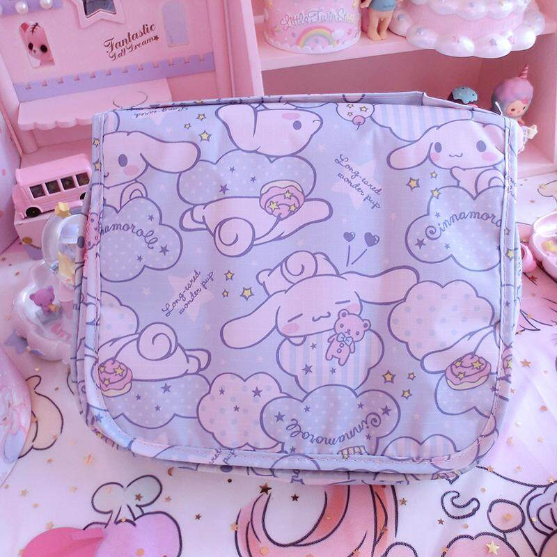 Cartoon Japan HeLL0 K1tty My Melody Cinnamoroll Pudding Dog Cosmetic Bags Women Storage Travel Pouch Wash Bags Girl Makeup Bags