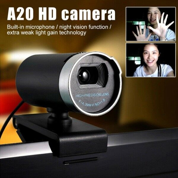 1080P Webcam for Computer USB Camera With Microphone LED High Quality Night Vision HD Webcam for Computer PC Laptop