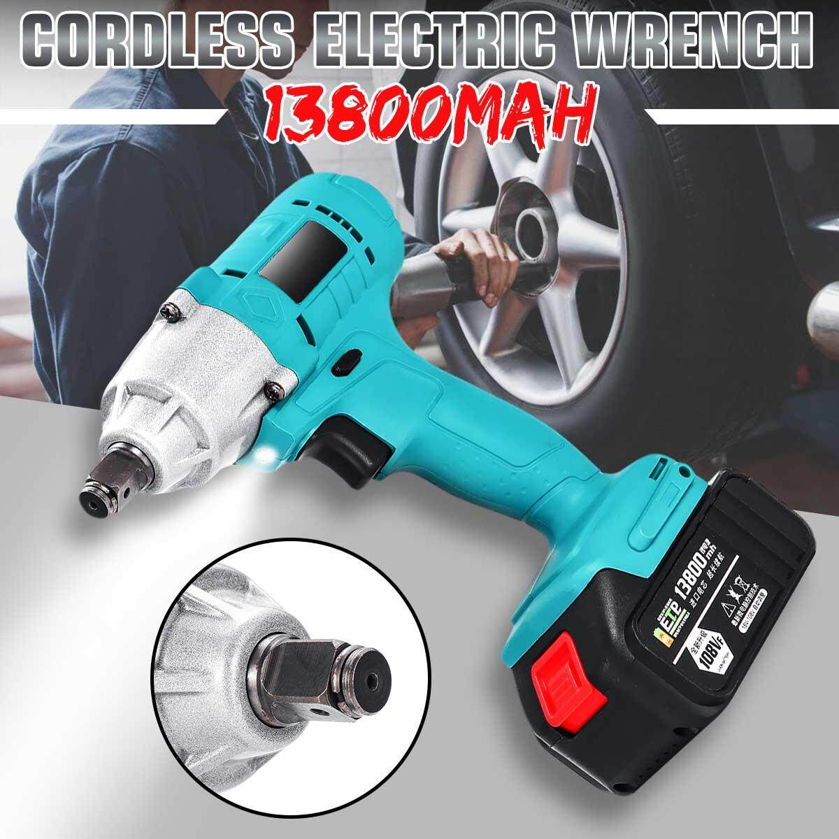 108VF 13800mAh Electric Cordless Impact Wrench High Torque Drill Tool 3800RPM