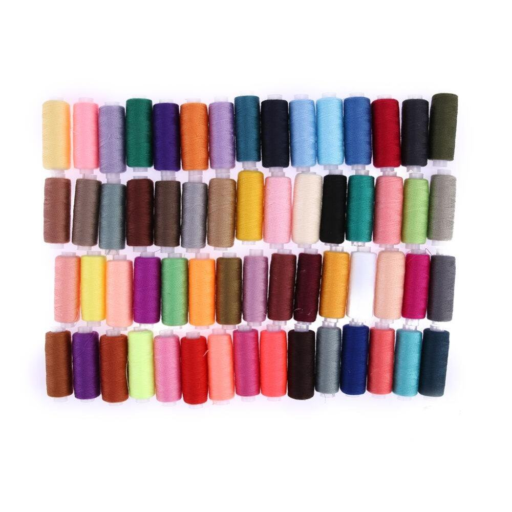 60 different Colours 250 Yard Polyester Embroidery Sewing Machine Threads