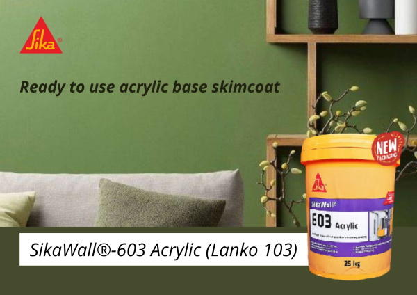 SikaWall®-603 Acrylic (25kgs) Ready-to-use Acrylic Skim Coat