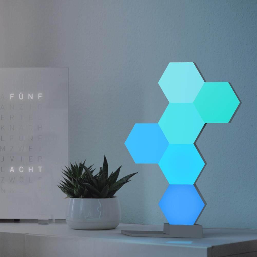 〔Jianier meiyi〕LifeSmart Cololight Quantum Lamp Hexagon Voice Control DIY WiFi Night Light