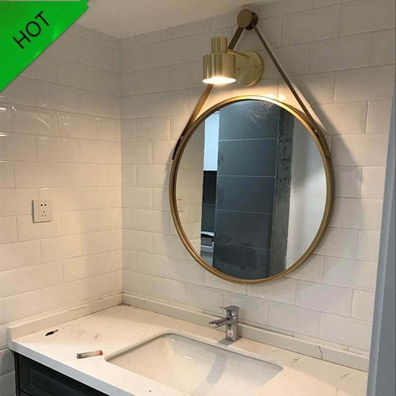 40 Cm Sắt Treo Tường Cá Tính Gương Tròn Sáng Tạo Gương Phòng Tắm Thời Trang Đơn Giản Trang Trí Phòng Tắm Gương Trang Điểm