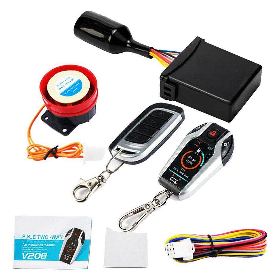 S2T Alarm System Two-way with Engine Start Remote Control Universal Motorcycle Alarm System Anti-theft Security