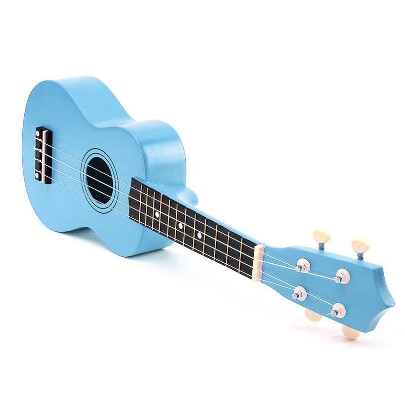 21 inch Soprano Ukulele 4 Strings Hawaiian Guitar Uke + String + Pick For Beginners kid Gift(Light Blue)