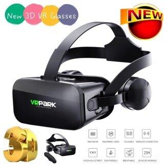 Kính 3D VR Mới Bán Chạy Nhất 2021 Hộp Tai Nghe Tai Nghe Thực Tế Ảo Màn Hình Khổng Lồ, Trực Quan Góc Rộng Với Từ Xa Gamepad Dành Cho Điện Thoại Di Động 4.7-6.53 Inch + Điều Khiển Từ Xa Bluetooth thumbnail
