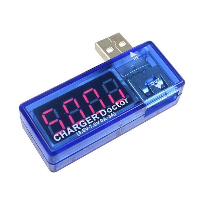 Transparent//Blue USB Charger Doctor Mobile Power Tester Voltage Current Meter