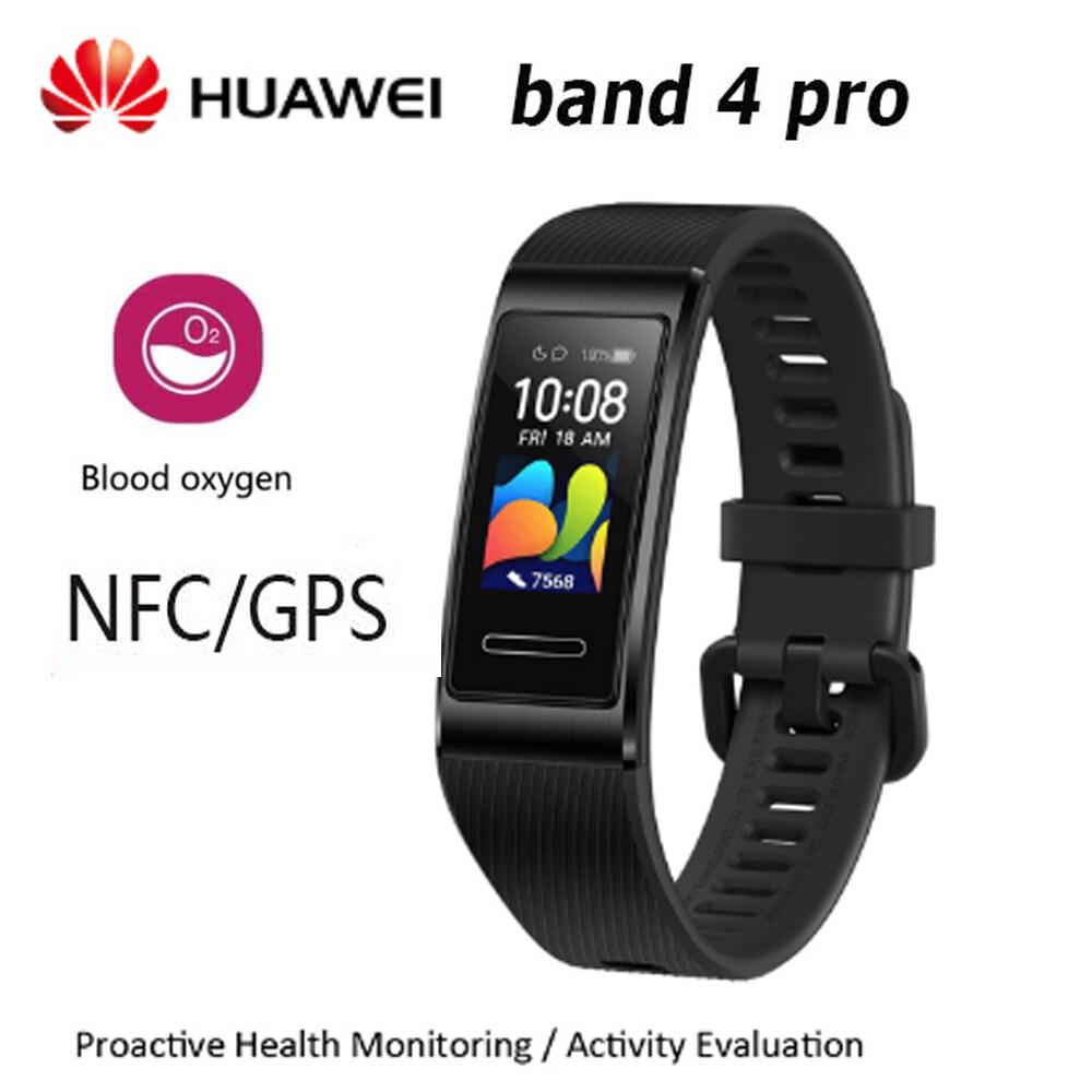 Huawei Band 4 Pro 0.95 นิ้ว Full Amoled Touchscreen Smart Band Watch ใบหน้ากันน้ำ.