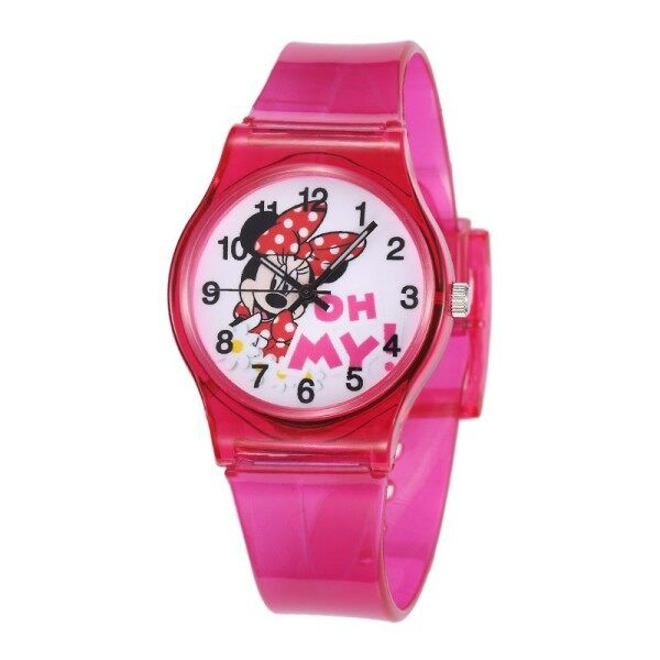 2020 hot selling Transparent strap Digital Childrens Watches Student Sports Kids watch cute Cartoons kids watches with Bracelet set Malaysia