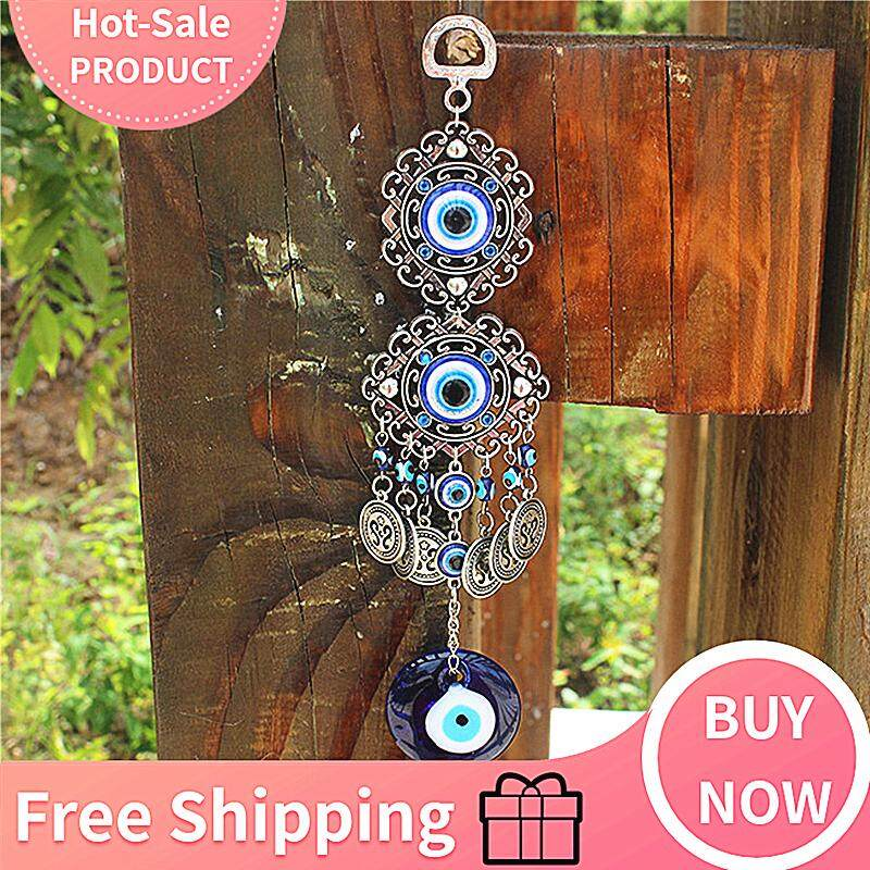 Turkish Blue Glass Evil Eye Amulet Wall Hanging Home Decoration Lucky Protection By Qiaosha.