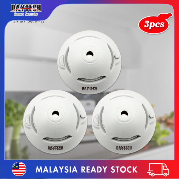 [Malaysia Ready Stock]Daytech Independent Smoke Detector 10 Years Life Battery Powered Standalone Photoelectric Smoke Sensor Alarm Security System For Home/Factory/Restaurant/Hotel 3PCS SM06