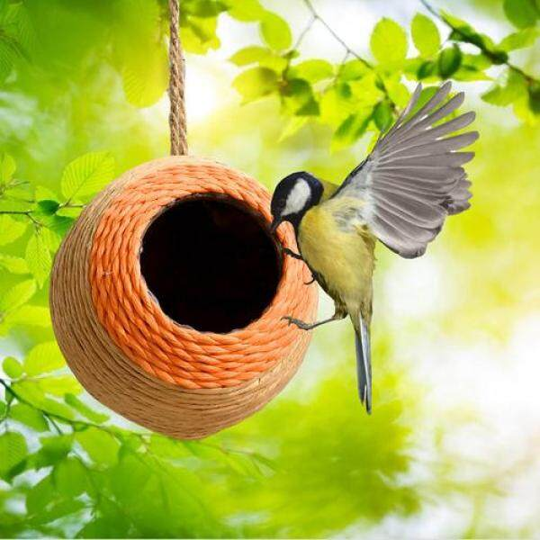Nhà Chim Dệt Thủ Công Gai Dầu Tự Nhiên Sợi Dây Thừng Hộp Nuôi Chim Tại Nhà Cho Nhà Vườn Thú Cưng Ngoài Trời