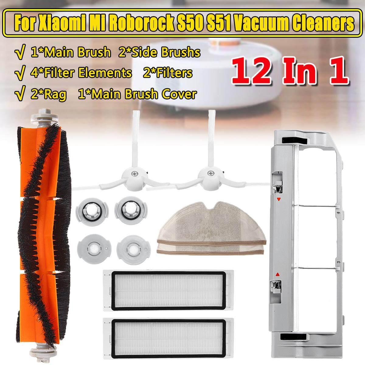 12 Cái/Bộ Bên Chính Brushs Lọc Cho Xiaomi Mi Roborock S50 S51 Máy Hút Bụi