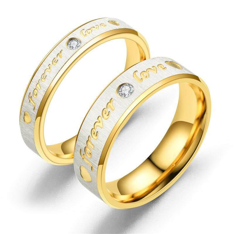 Mãi Yêu Âu Mỹ thời trang mới Nhẫn đôi nhẫn cặp đồng hồ đôi nhẫn