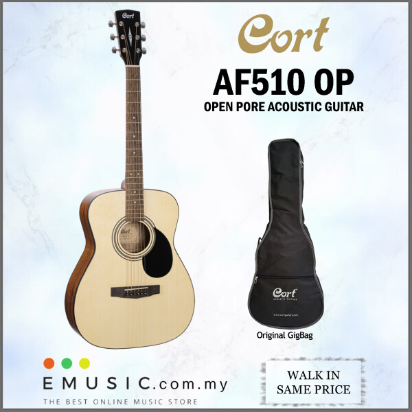 Cort AF510 OP Open Pore Standard Series Acoustic Electric Guitar come with GigBag (AF 510 / AF-510) Malaysia