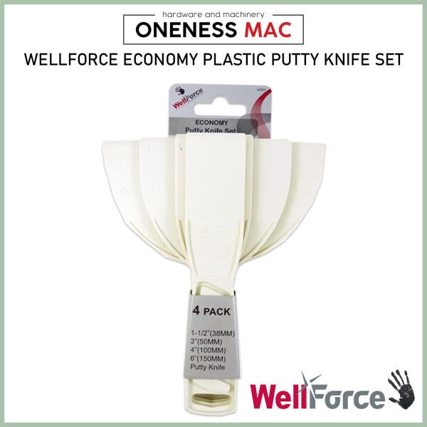Wellforce Plastic Putty Scraper Set 4PCS SET