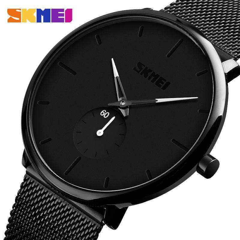SKMEI Đồng hồ thời trang nam Quartz Casual chống nước bằng thép không gỉ đơn giản 9185