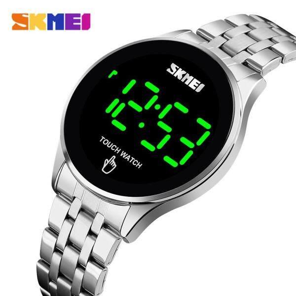 SKMEI Mens Watch Luxury Brand LED Light Touch Screen Sport Digital Watches Fashion Stainless Steel Waterproof Male Wristwatch Malaysia