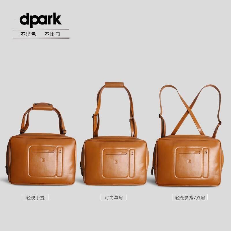 D-Park Laptop Tas Ransel Laptop Case Tahan Air Kulit Bisnis 13 14 Inch Notebook Tas Pundak untuk MacBook Air13.3/Pro14