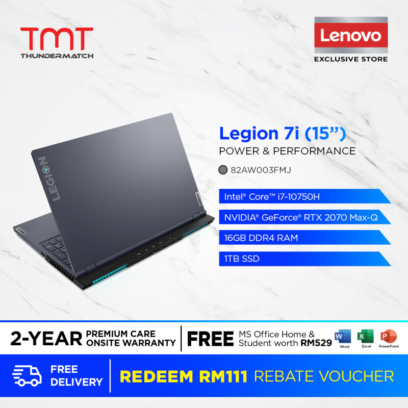 Lenovo Legion 7 15IMH05 81YT0065MJ | i7-10750H | 16GB 1TB SSD | 15.6| RTX2070 | Win 10 | FREE Microsoft Office and Bag Malaysia