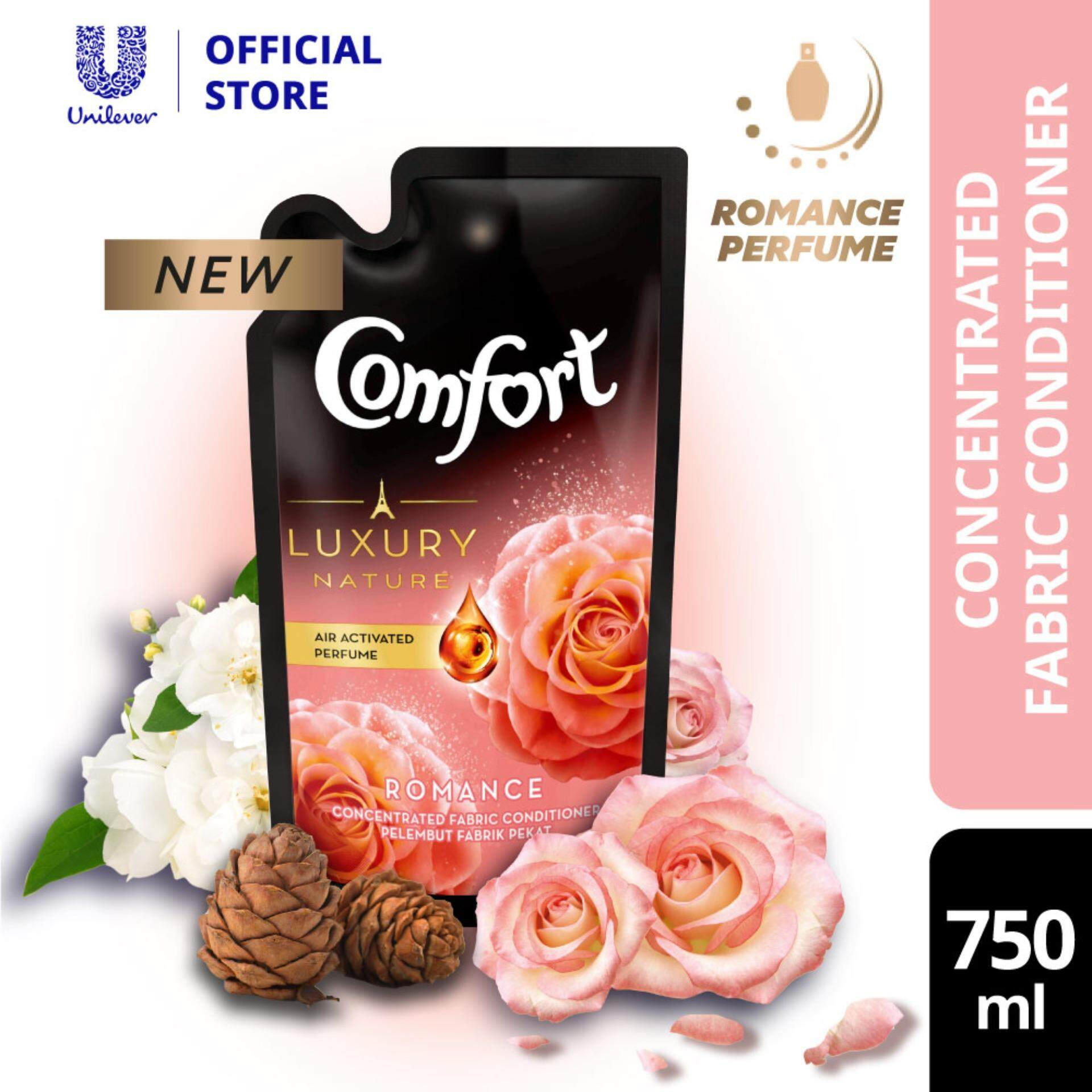 Comfort Luxury Nature Romance Perfume Concentrated Fabric Conditioner Refill 750 ml