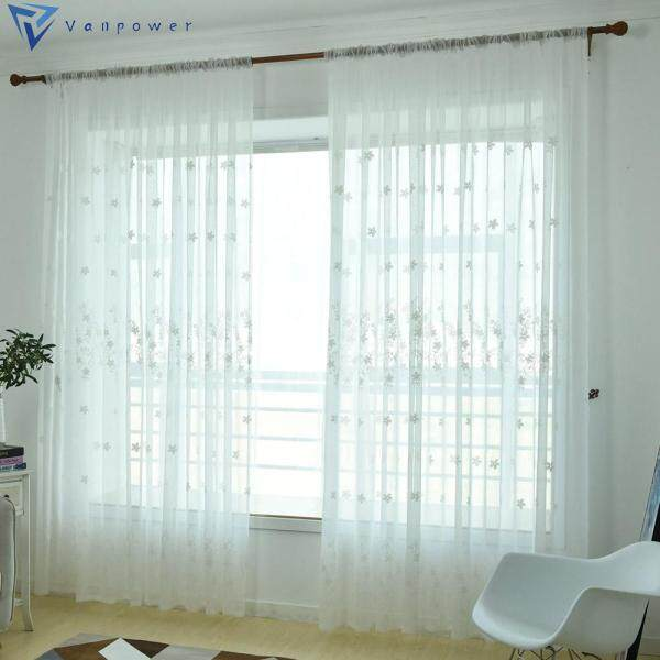2.5x1m Polyester Embroidery Printing Curtain Home Window Decor
