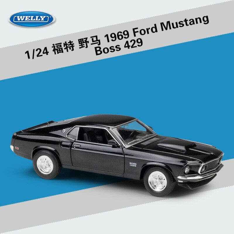 1969 Vintage Ford Mustang Boss 429 1:24 Model Car Diecast Toy Collection Gift