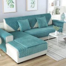 Khăn Sofa Dày Flannel Hàn Quốc Bốn Mùa Sang Trọng Chống Trượt Đệm Sofa Bọc Khăn Bán Sản Phẩm Hoàn Chỉnh