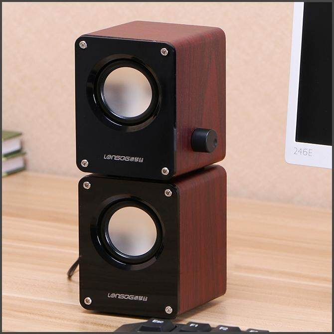 Mini USB Wooden Speaker Computer Desktop (Pre-Order 7 - 9 Working Days) Malaysia
