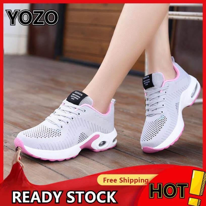 YOZO Nữ Không Đệm Giày Thoáng Khí Chạy Bộ Nam Nữ Ngoài Trời Tập Gym Thể Thao Nữ Buộc Dây Giày nữ Size 35-42 Giày Người Phụ Nữ Giày Thể Thao Đệm Không Khí Chạy Bộ giá rẻ