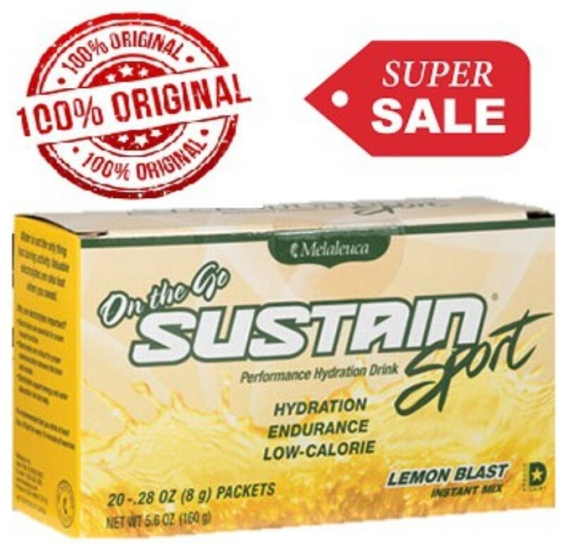 Sustain(100% Natural ingredients) Sport Lemon Blast Packets (20 packets) Malaysia