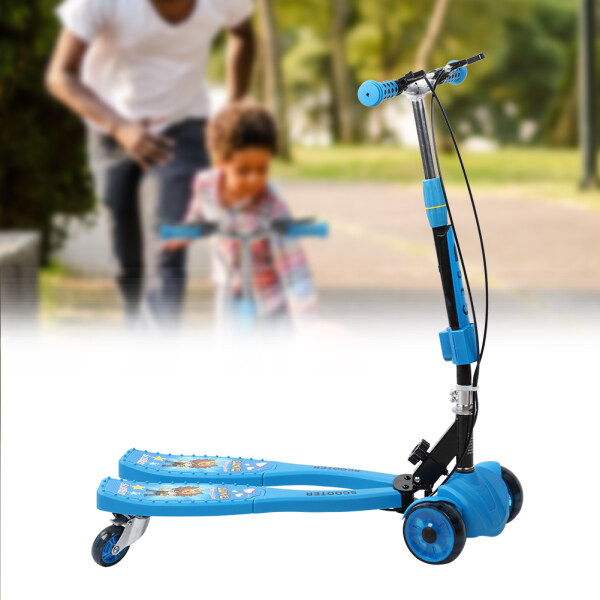 royalbelle Children Frog-type Scooter Four-wheel Flash Slide Car Music Scooter for 3-12 Years Old Niagara Blue (music) Singapore