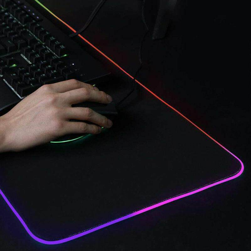 Large Gaming Mouse Pad RGB Mousepad LED Colourful Rubber Anti-Slip Mat Speed Malaysia