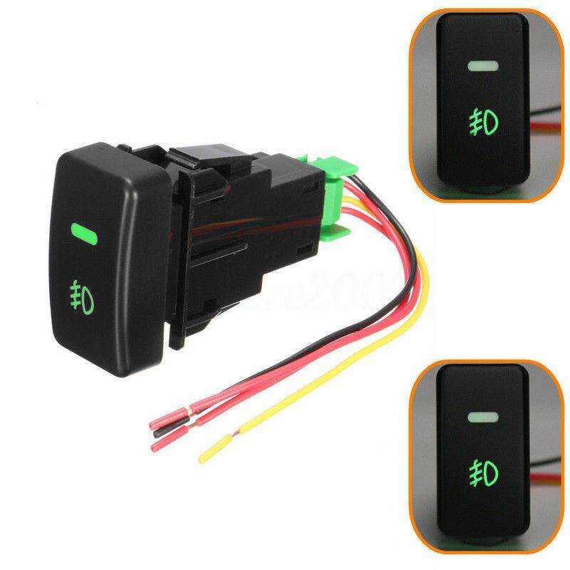 5pin led car push button fog light switch with wire for honda civic accord  crv