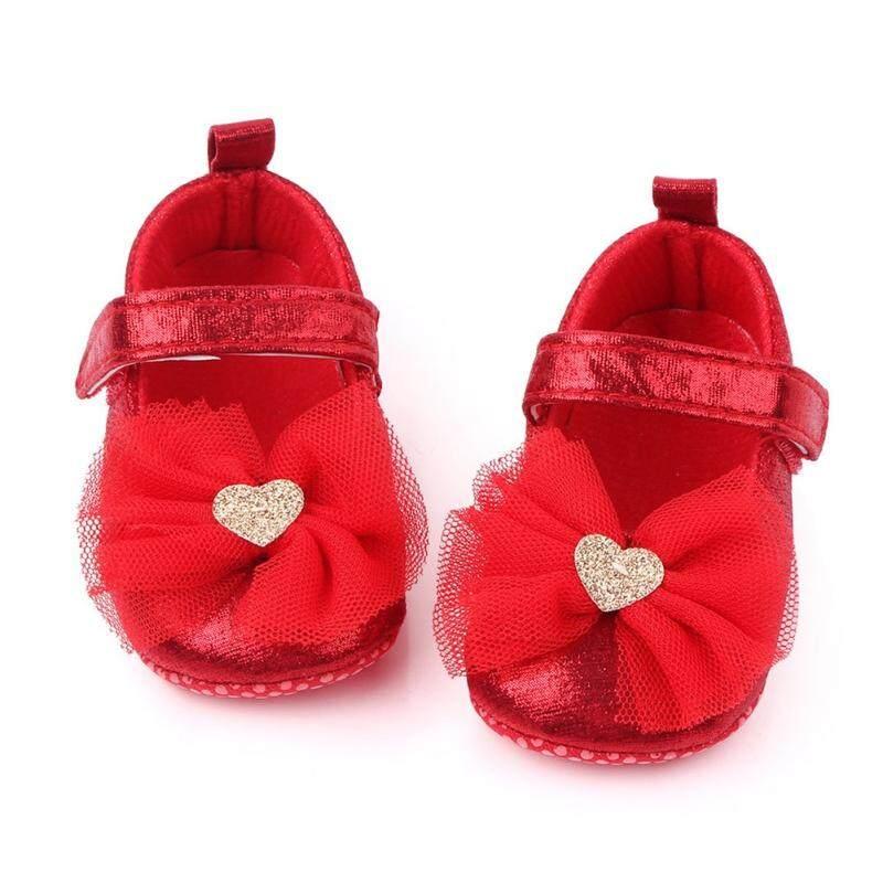 Giá bán 4 Màu Trẻ Sơ Sinh Bé Gái Giày Nơ Hoa Chống Trơn Trượt Đế Mềm Móc Đầu Tiên Xe Tập Đi Cho Bé Sơ Sinh Cho Bé Gái giầy Trẻ Em 0-18M