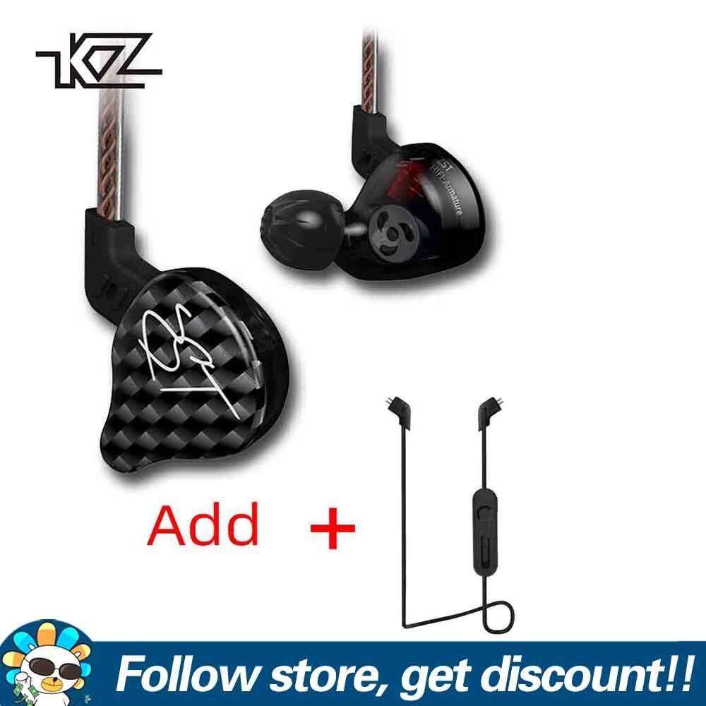 KZ-ZST Dual Driver Kopfhörer HiFi Musik Earphone Detachable 1.2m Cable Headset