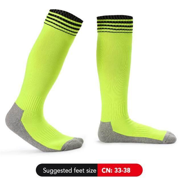 Trẻ Em Thể Thao Chuyên Nghiệp Bóng Đá Sock Cao Vớ Chân Bé Trai Bé Gái Trên Đầu Gối Thể Thao Thoáng Khí Huấn Luyện Ngoài Trời Running Sock