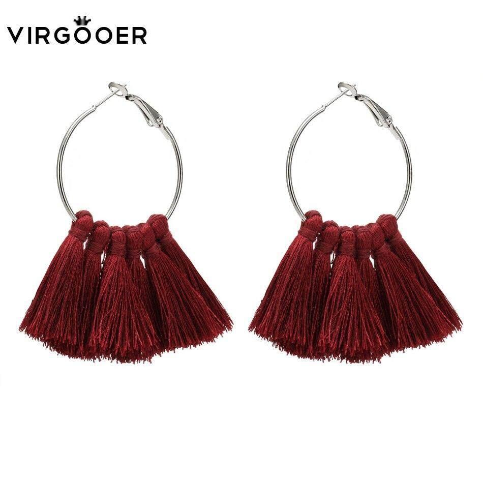 Earrings Jewelry & Accessories Korean Red Pom Pom Fur Ball Drop Earrings Fashion Velvet Bow Love Heart Flower Circle Geometry Earring Geometric Ear Studs