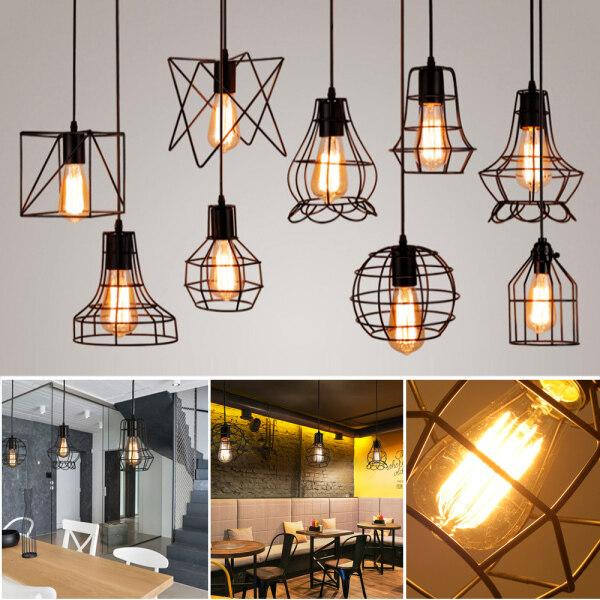 Đèn Mặt Dây Chuyền Lamparas De Đèn Treo Techo Colgante Moderna Đèn Công Nghiệp, Loft Mặt Dây Chuyền Đèn Kim Loại Treo Đèn, E27 đèn led trang trí trang trí phòng ngủ
