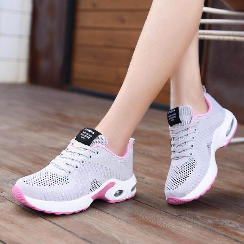 Giày thể thao thời trang nữ có cột dây và đế dày có đệm khí thích hợp mang thường ngày - INTL giá rẻ