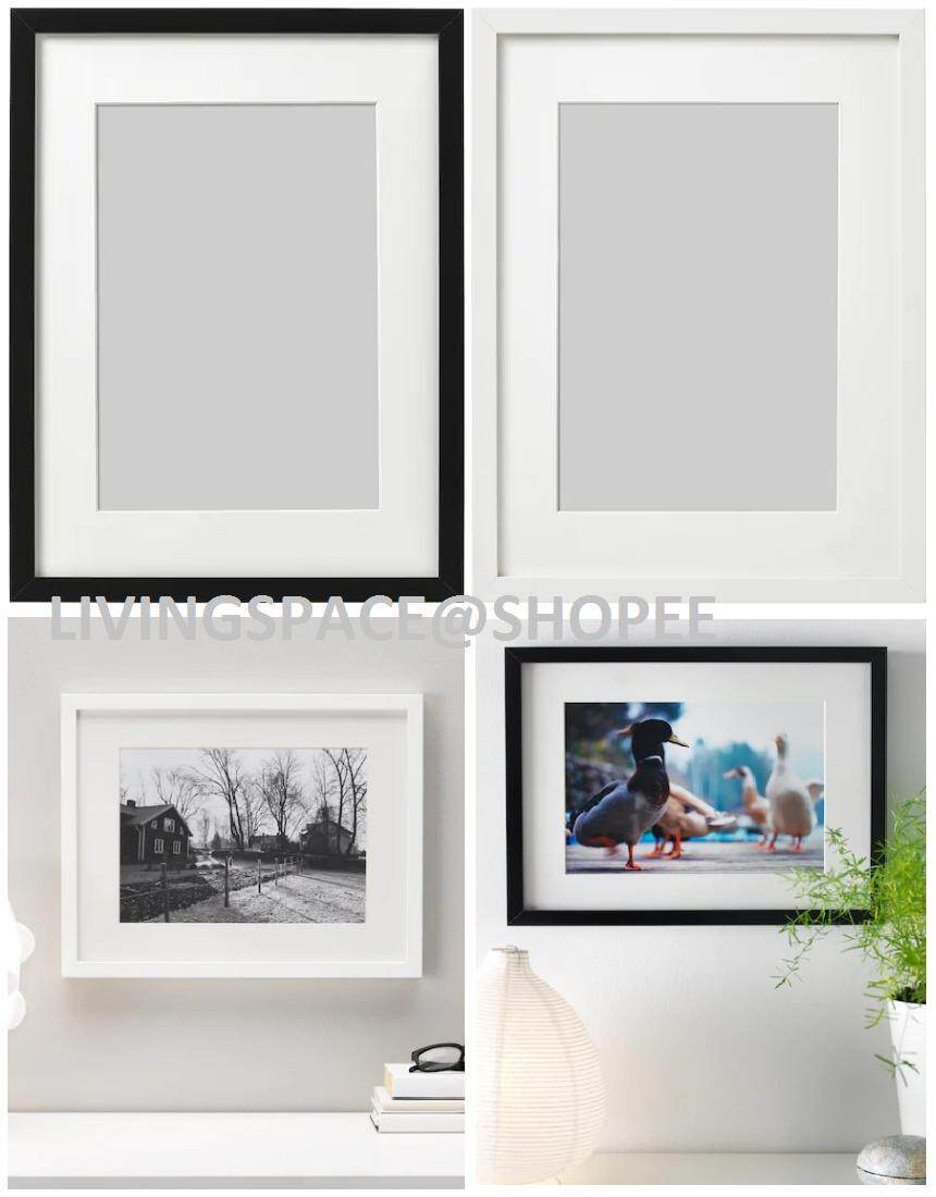 Ribba Picture Frame Photo Frame 12r A3 30x40 Cm Inches 12 X 16 White Black Lazada